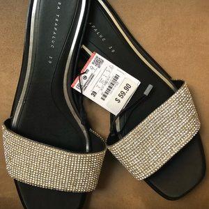 Zara 39 Shiny Slides